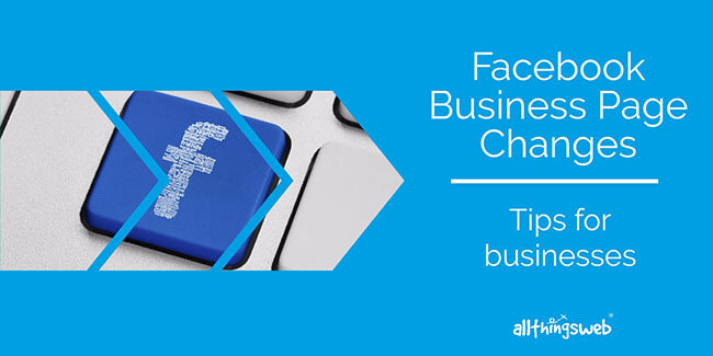 Facebook business page changes - tips graphic