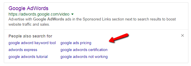 New google feature in SERPS