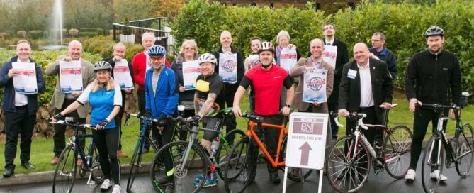 Charity bike ride team
