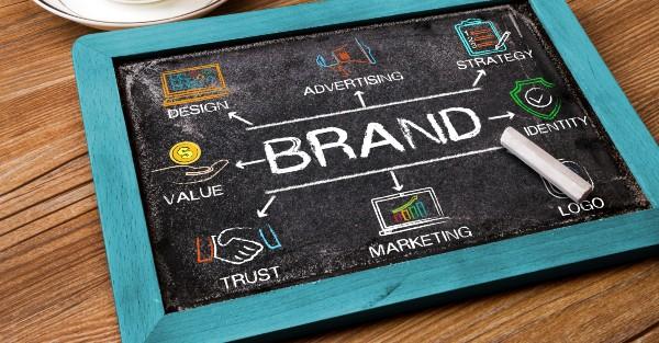 Brand concept on chalkboard