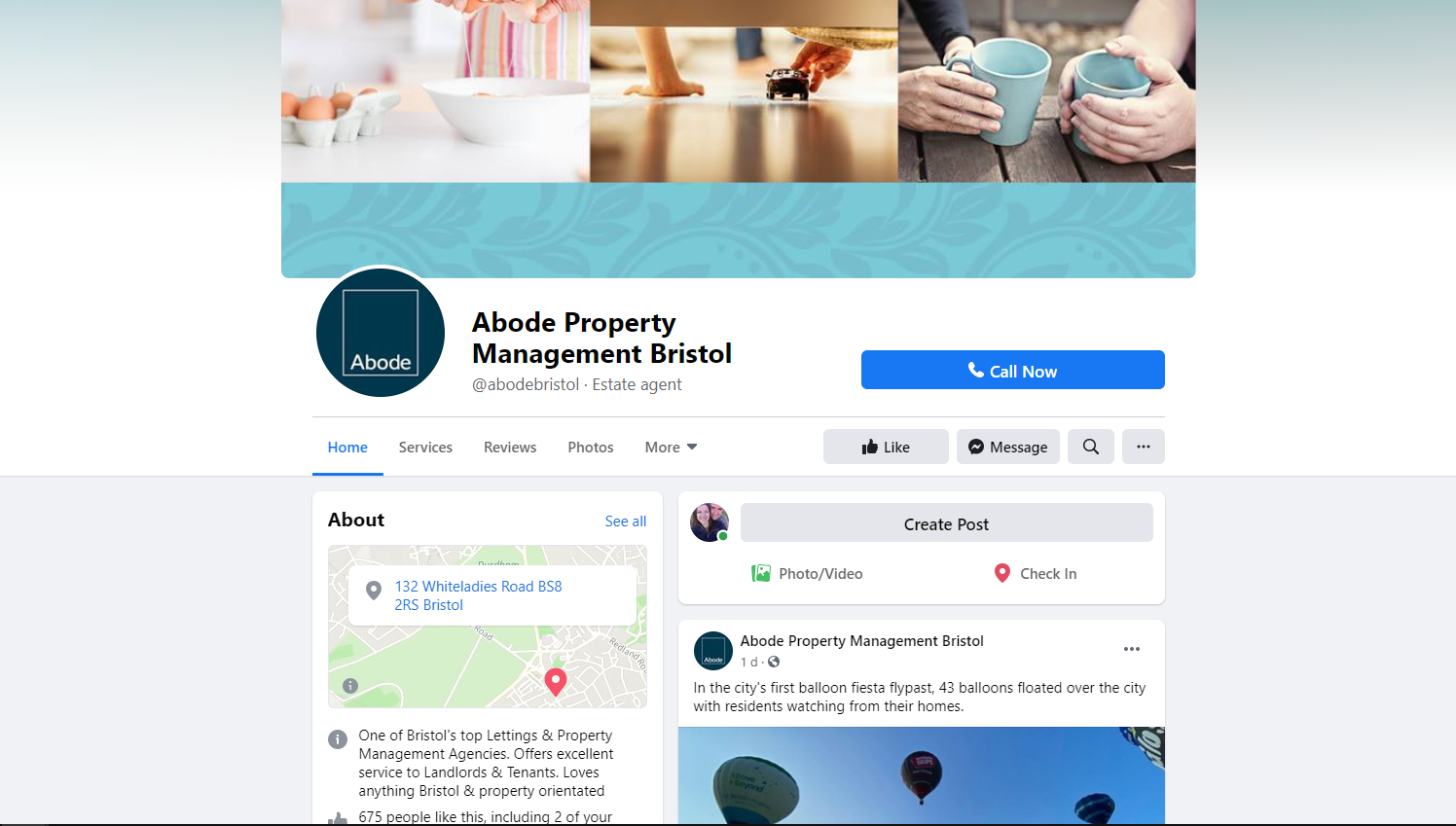 Abode Facebook Page