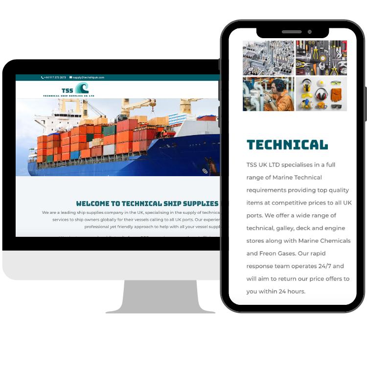 Techship website on desktop and mobile