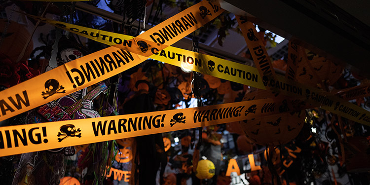 Halloween Caution and Warnings Tape
