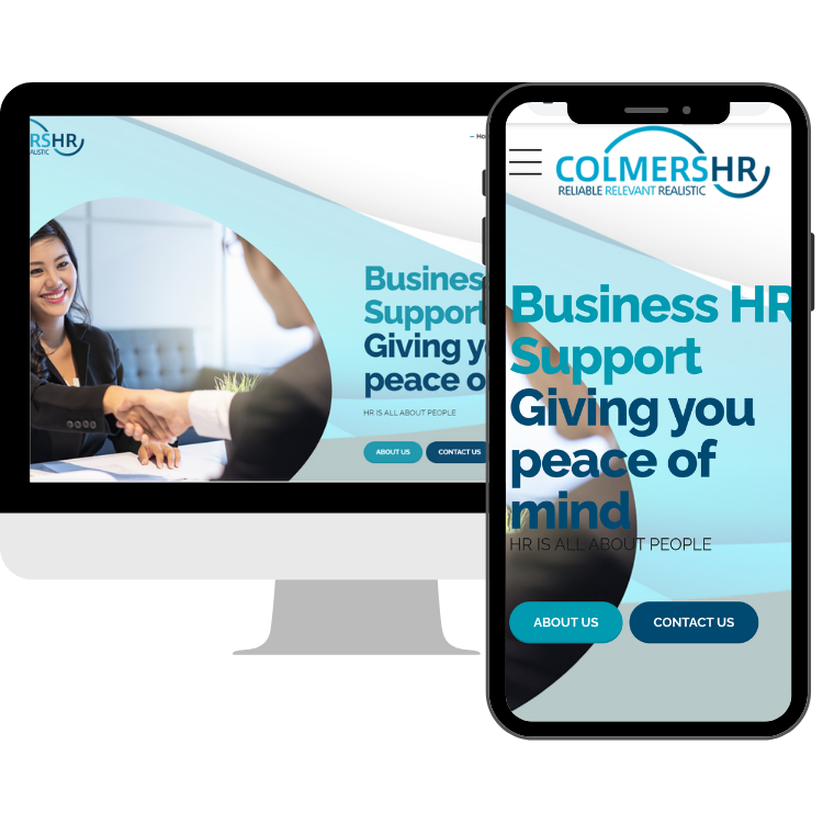 Colmers hr website on desktop and mobile
