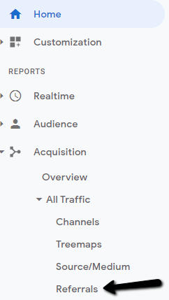 How to find referral traffic in google analytics